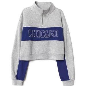 Divide h&m womans cropped Chicago sweatshirt